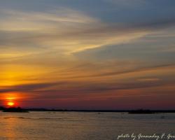 Закат над разливом Алатыря